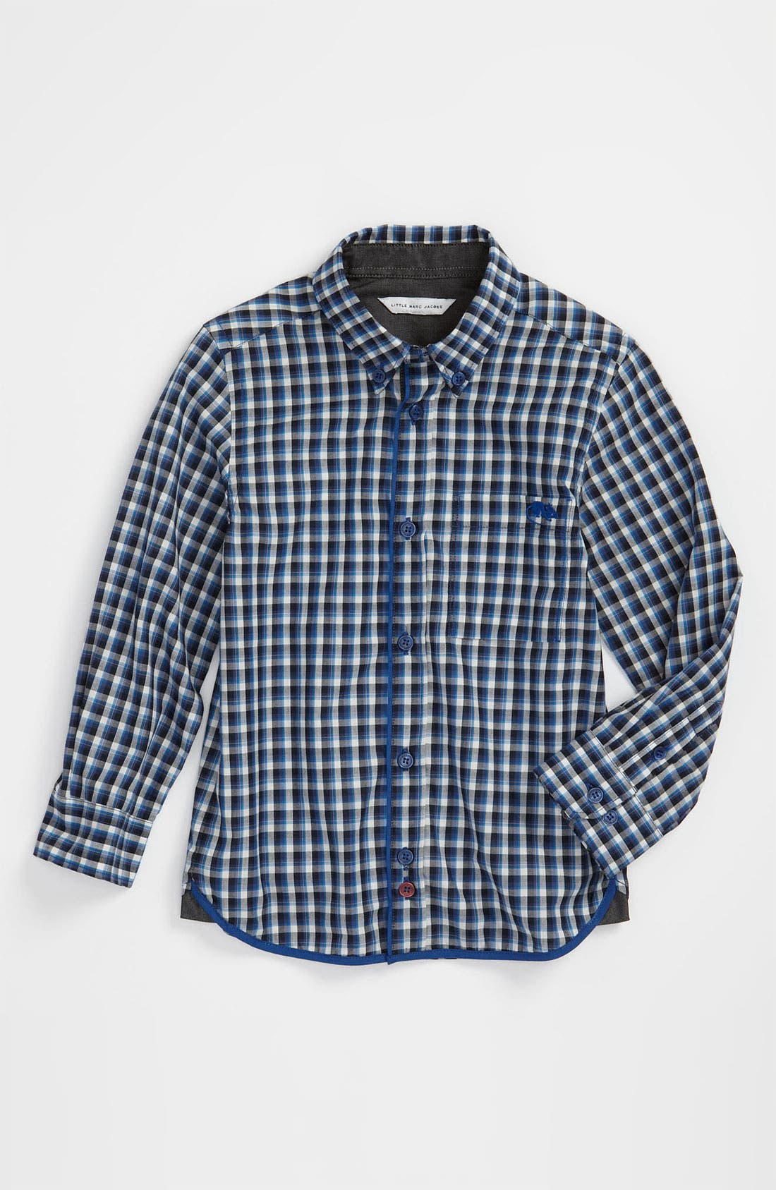 Alternate Image 1 Selected - LITTLE MARC JACOBS Poplin Sport Shirt (Little Boys & Big Boys)