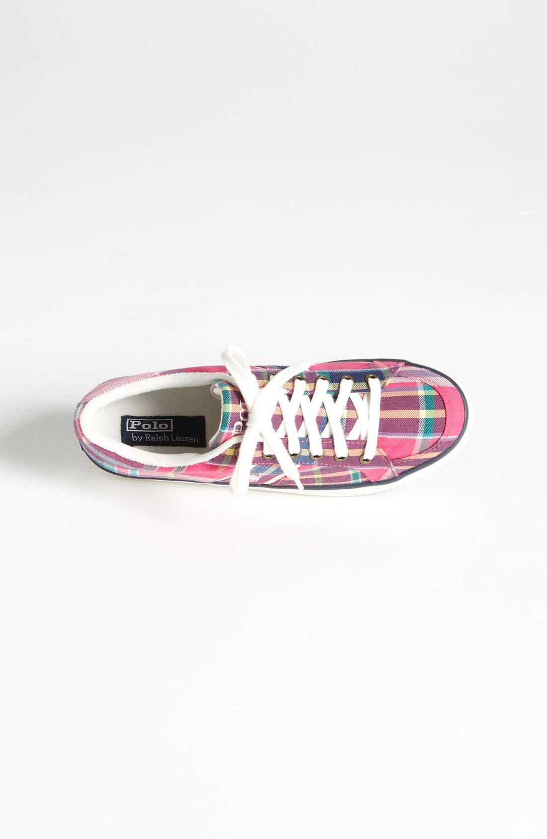 Alternate Image 3  - Polo Ralph Lauren Plaid Sneaker (Toddler, Little Kid & Big Kid)
