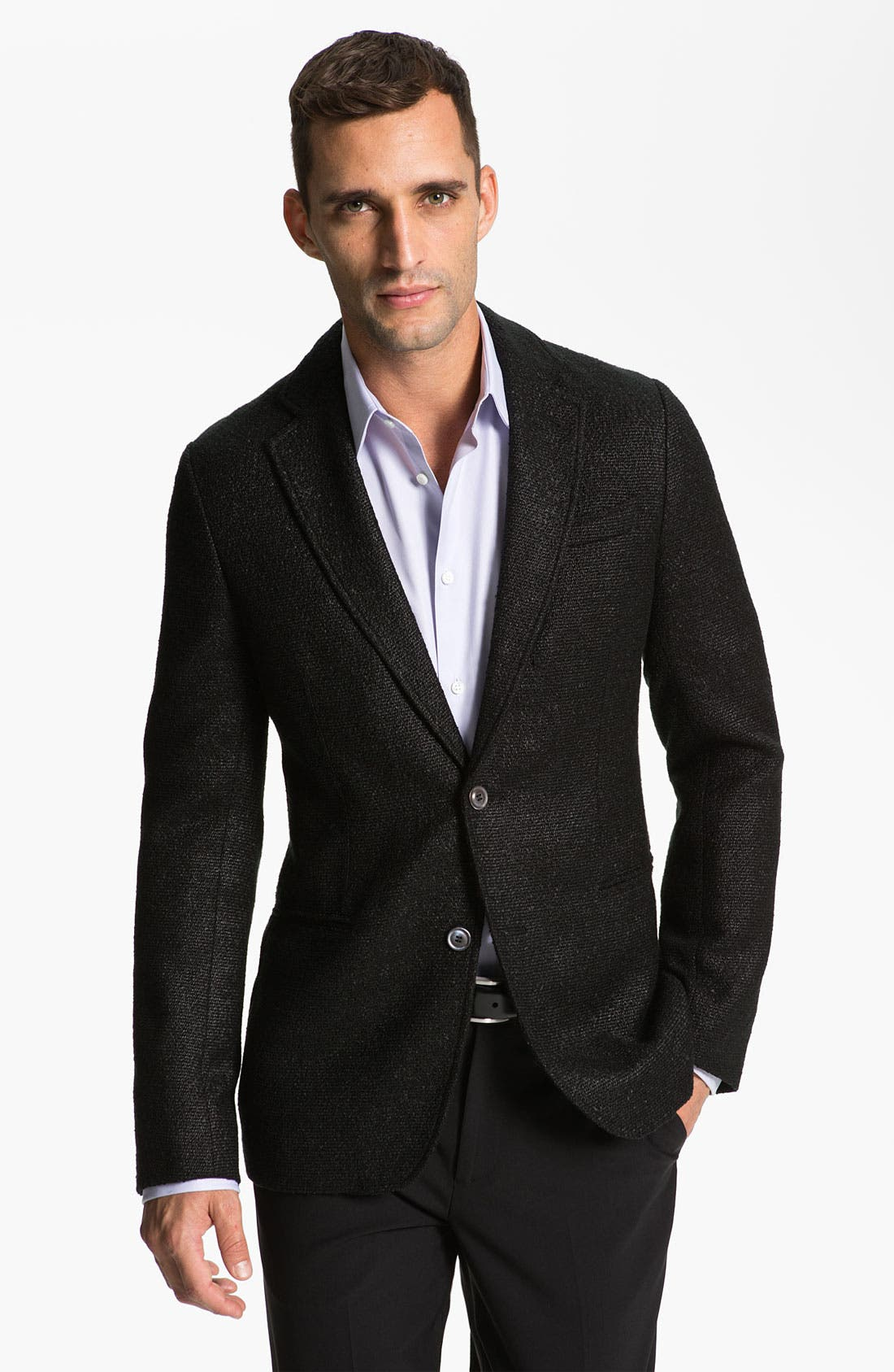 Alternate Image 1 Selected - Armani Collezioni Trim Fit Blazer