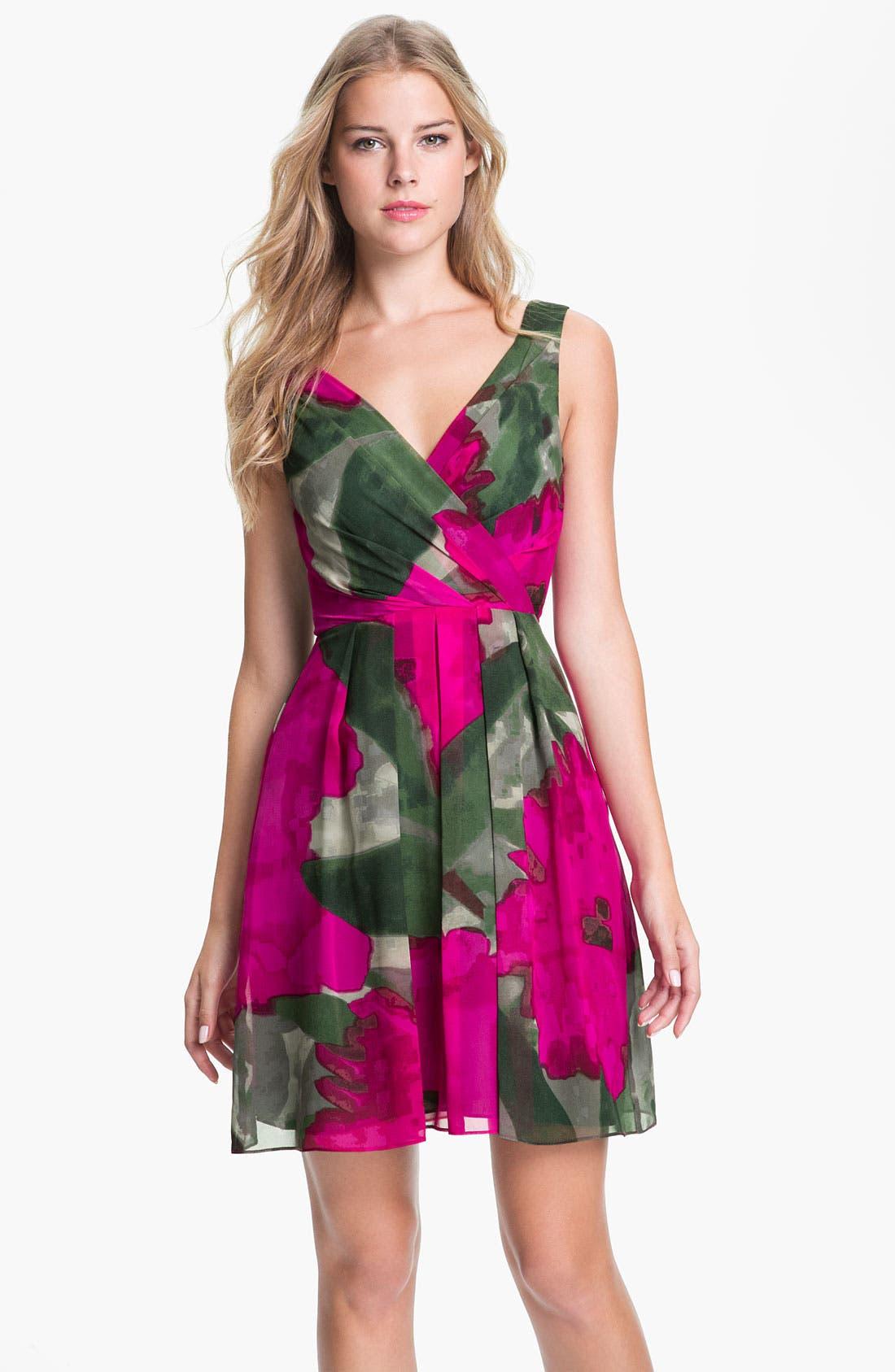 Main Image - Trina Turk 'Winston' Printed Silk Fit & Flare Dress