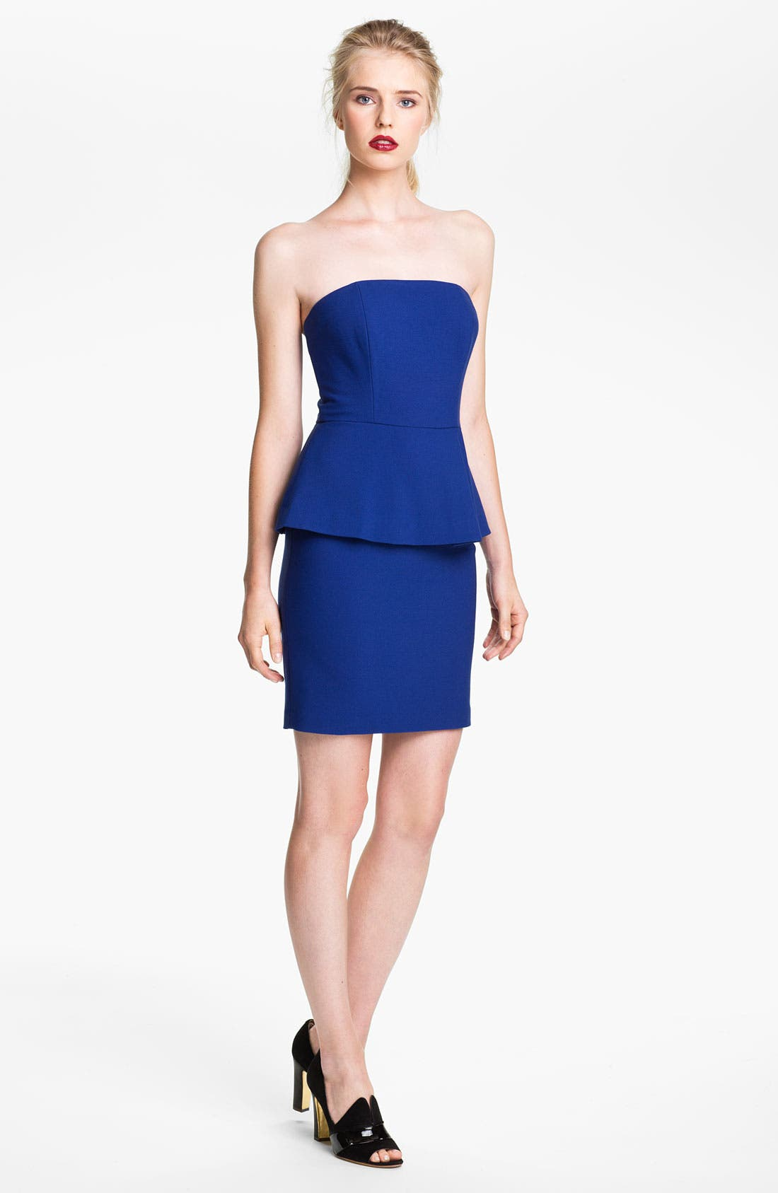 Alternate Image 1 Selected - Tracy Reese Strapless Peplum Dress