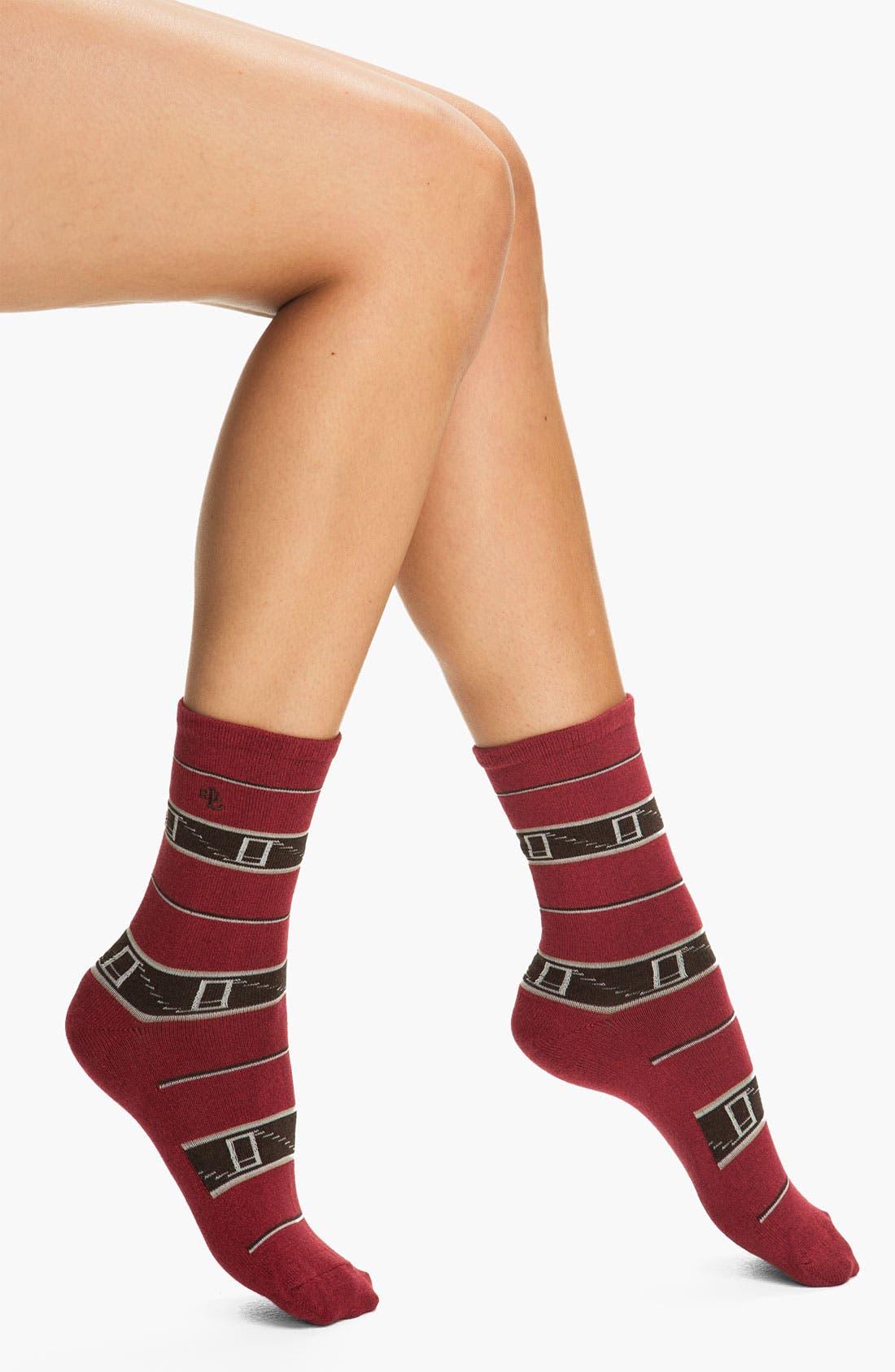 Alternate Image 1 Selected - Ralph Lauren Blanket Stripe Socks