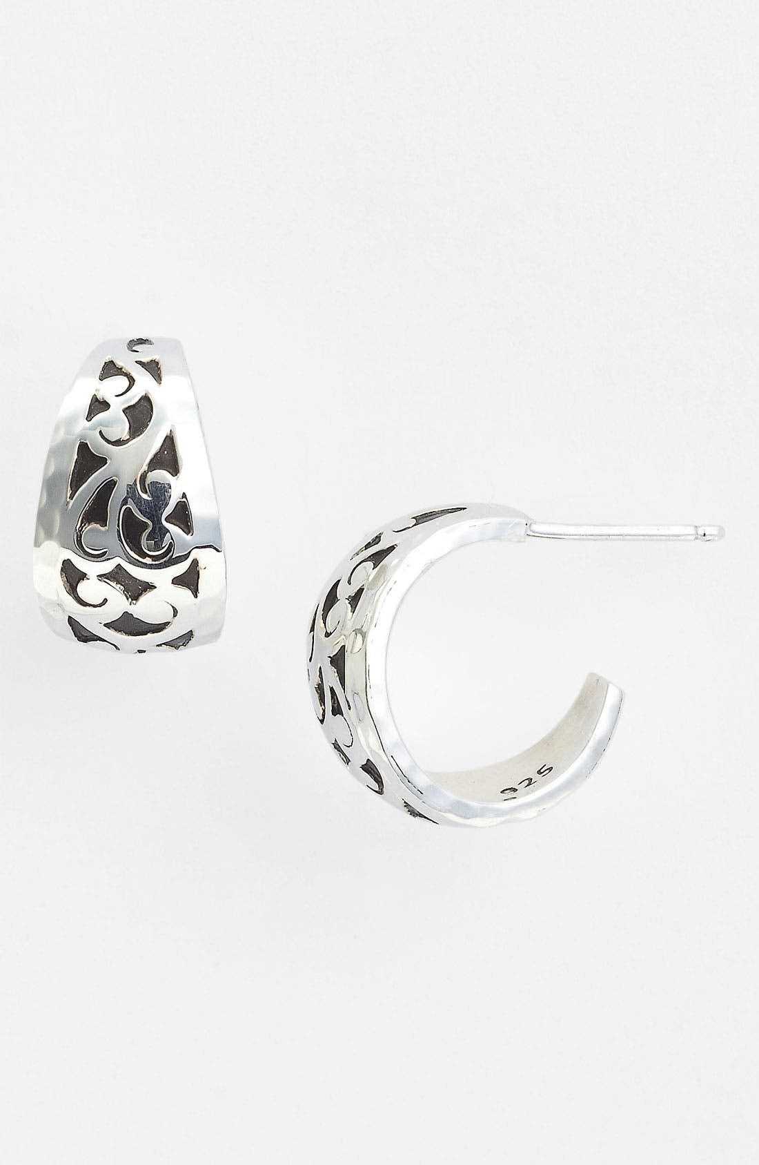 Main Image - Lois Hill 'Marquise' Tapered Hoop Earrings