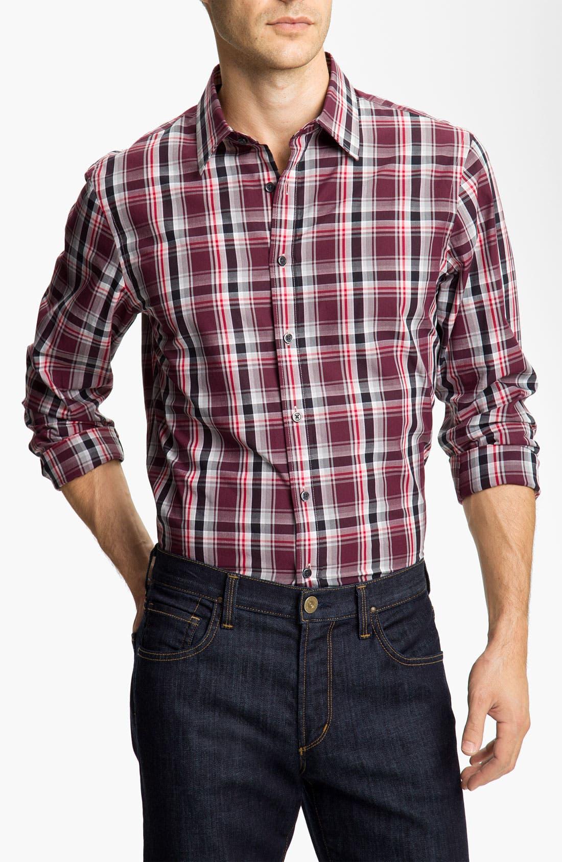 Alternate Image 1 Selected - Michael Kors 'Halden Check' Sport Shirt