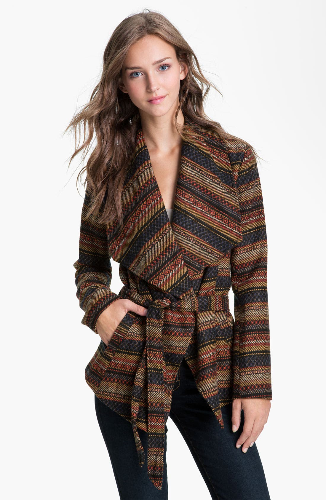 Alternate Image 1 Selected - Jack Southwestern Blanket Coat (Juniors)