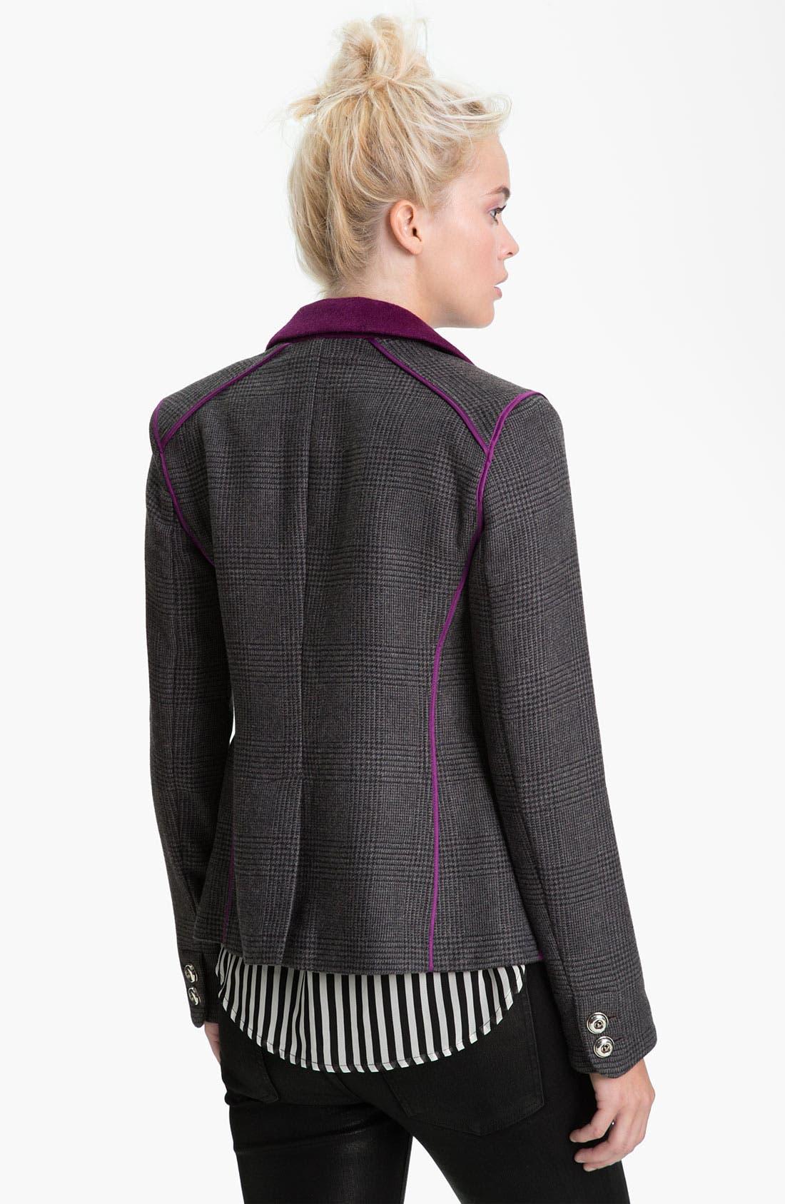 Alternate Image 2  - Juicy Couture Contrast Trim Plaid Blazer