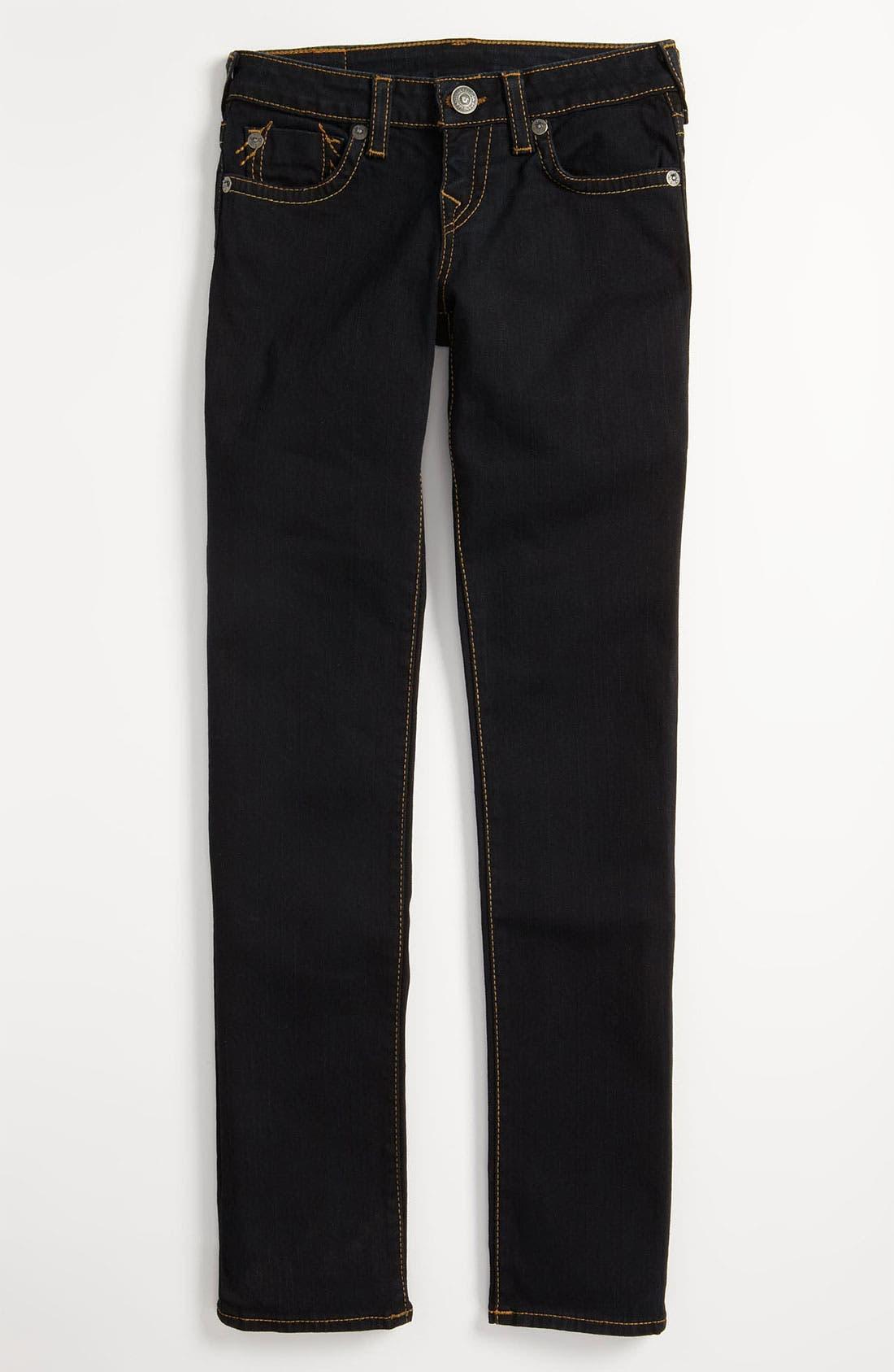 Alternate Image 2  - True Religion Brand Jeans 'Stella' Skinny Jeans (Little Girls & Big Girls)