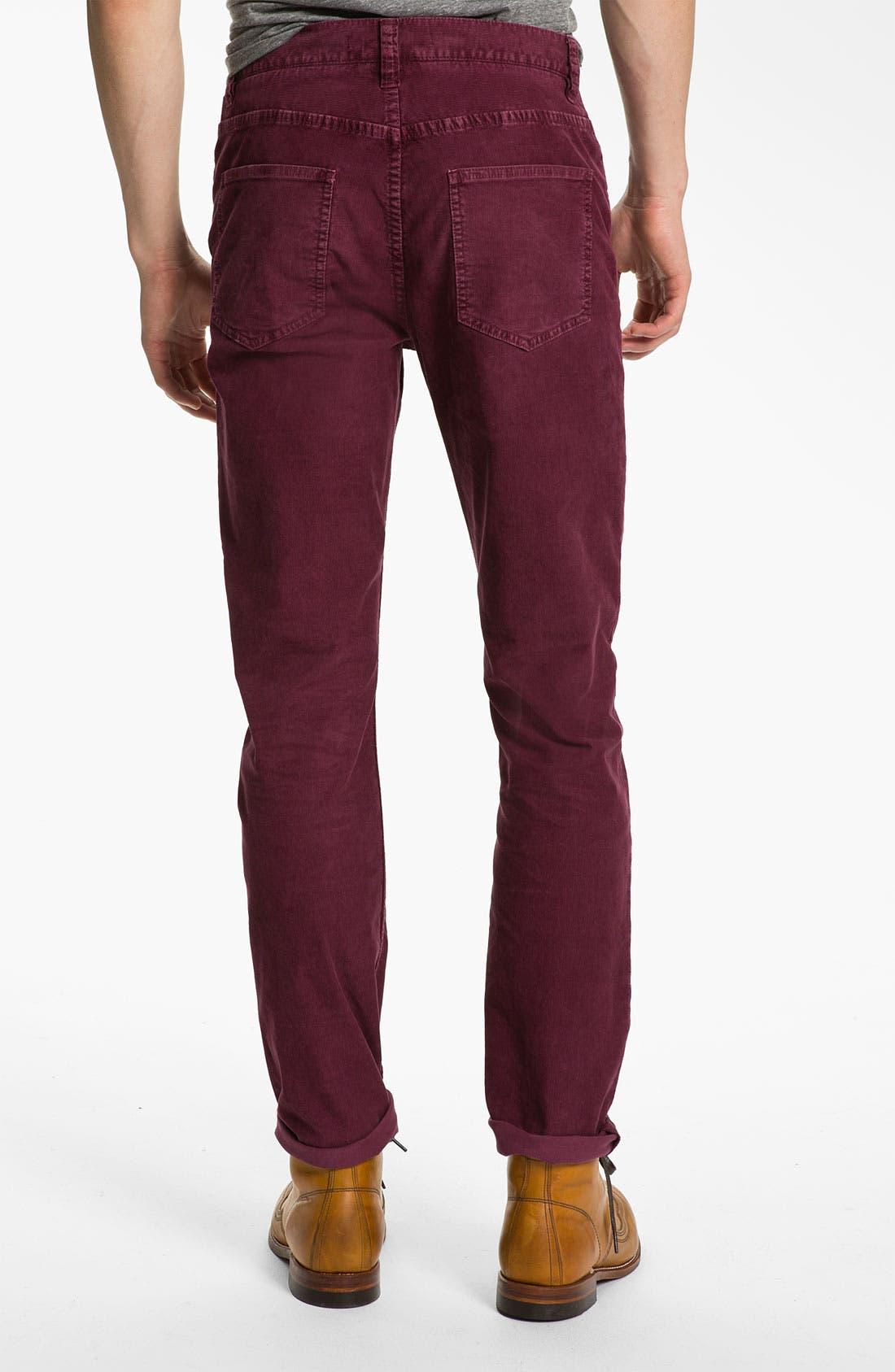 Alternate Image 2  - life/after/denim 'Palermo' Slim Straight Leg Corduroy Pants
