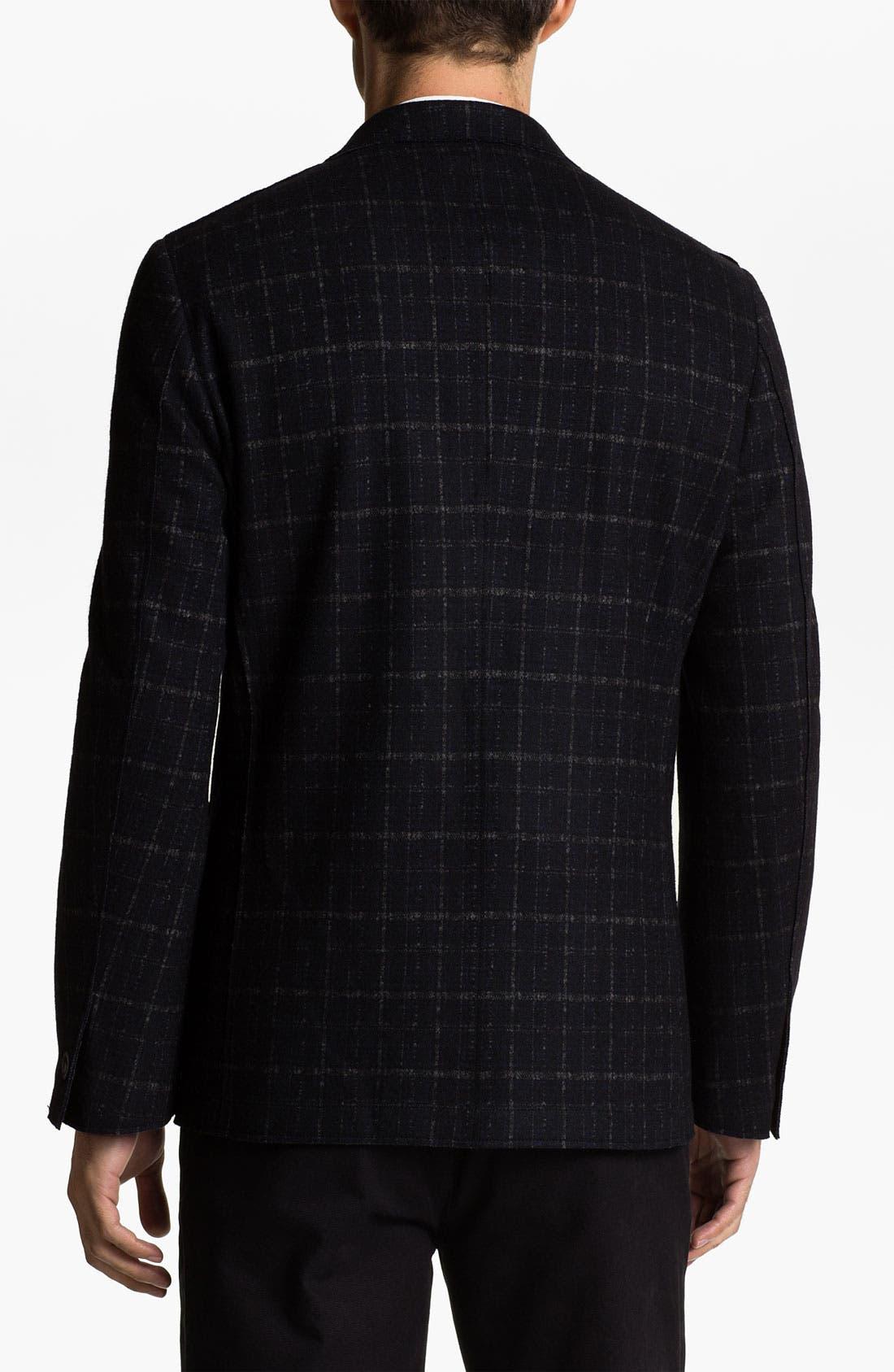 Alternate Image 2  - Natural Blue Plaid Wool Blend Sportcoat