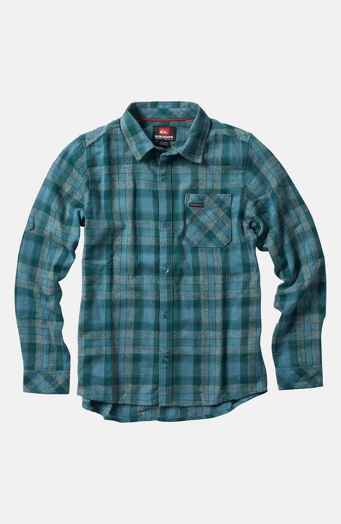 Main Image - Quiksilver Flannel Shirt (Big Boys)