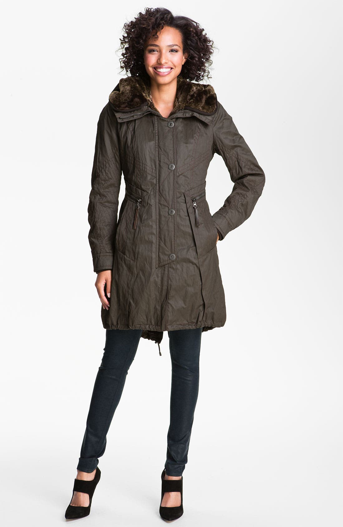 Alternate Image 1 Selected - Creenstone Hooded Parka with Faux Fur Liner