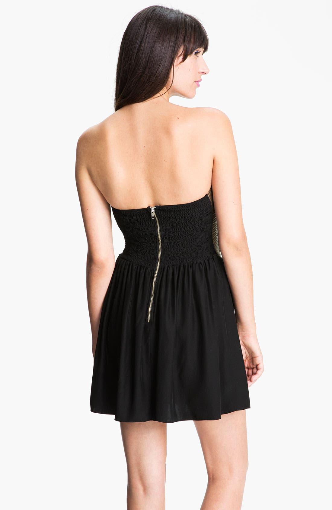 Alternate Image 2  - Parker Metallic Leather Corset Dress