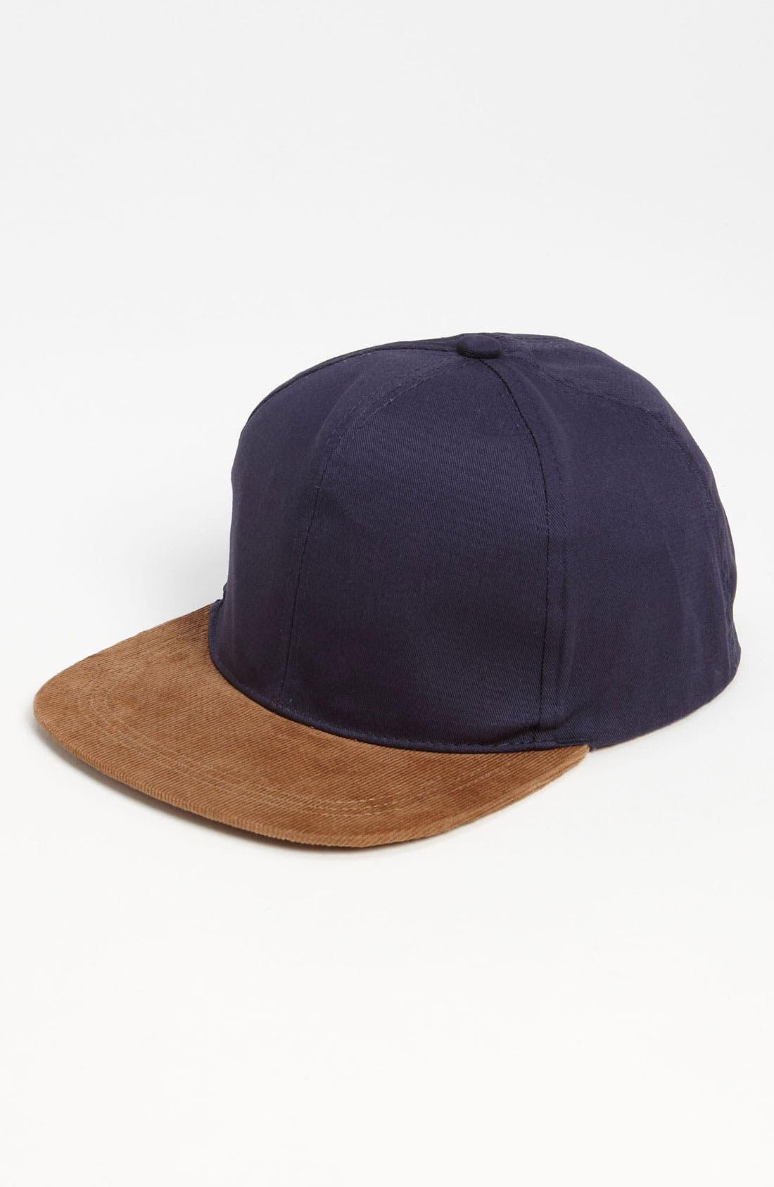Main Image - Topman Corduroy Snapback Cap