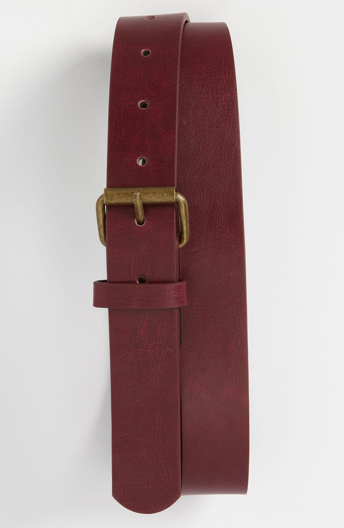 Alternate Image 1 Selected - Topman Slim Faux Leather Belt