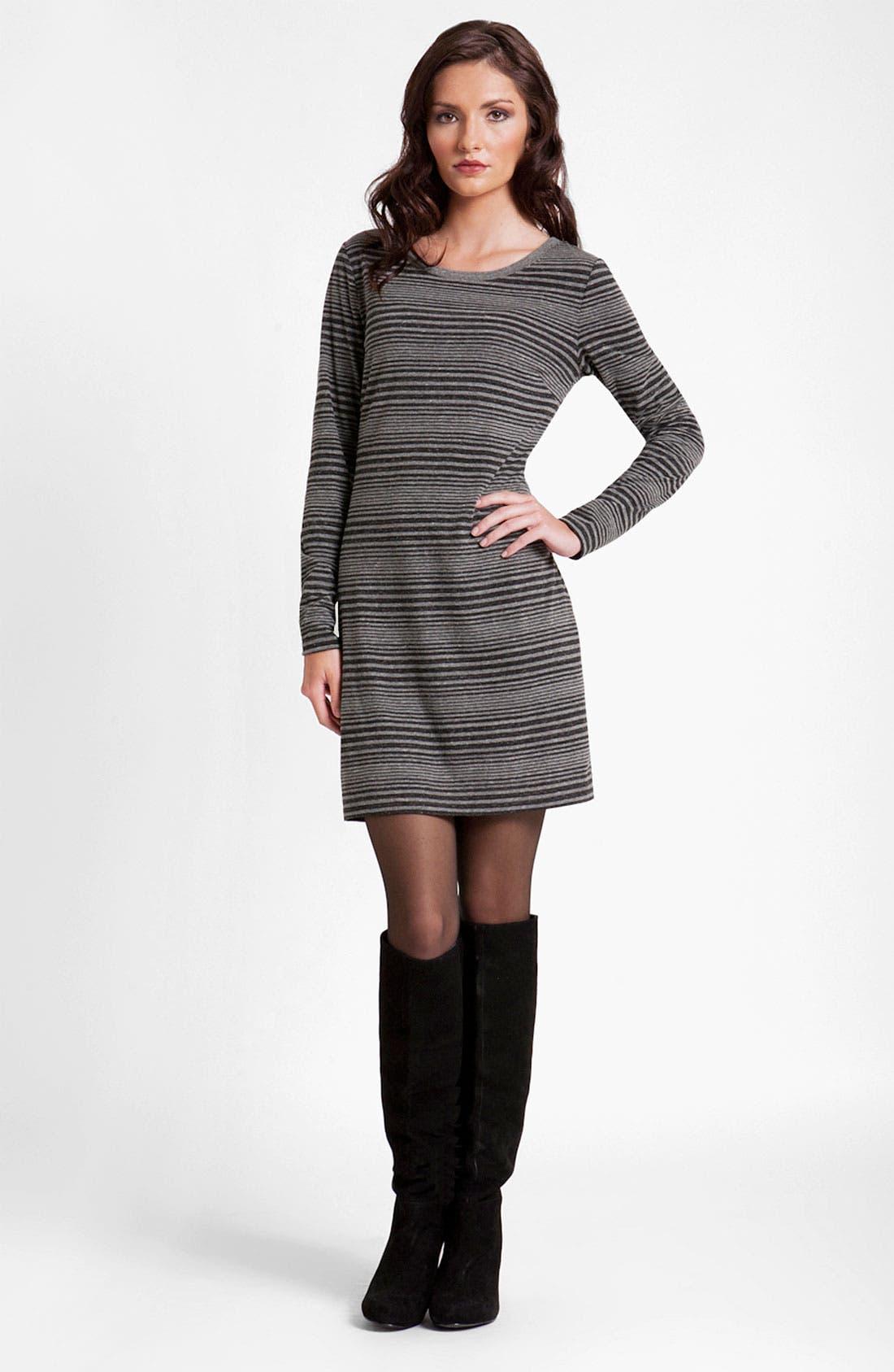 Main Image - Three Dots Long Sleeve Stripe Sweater Dress