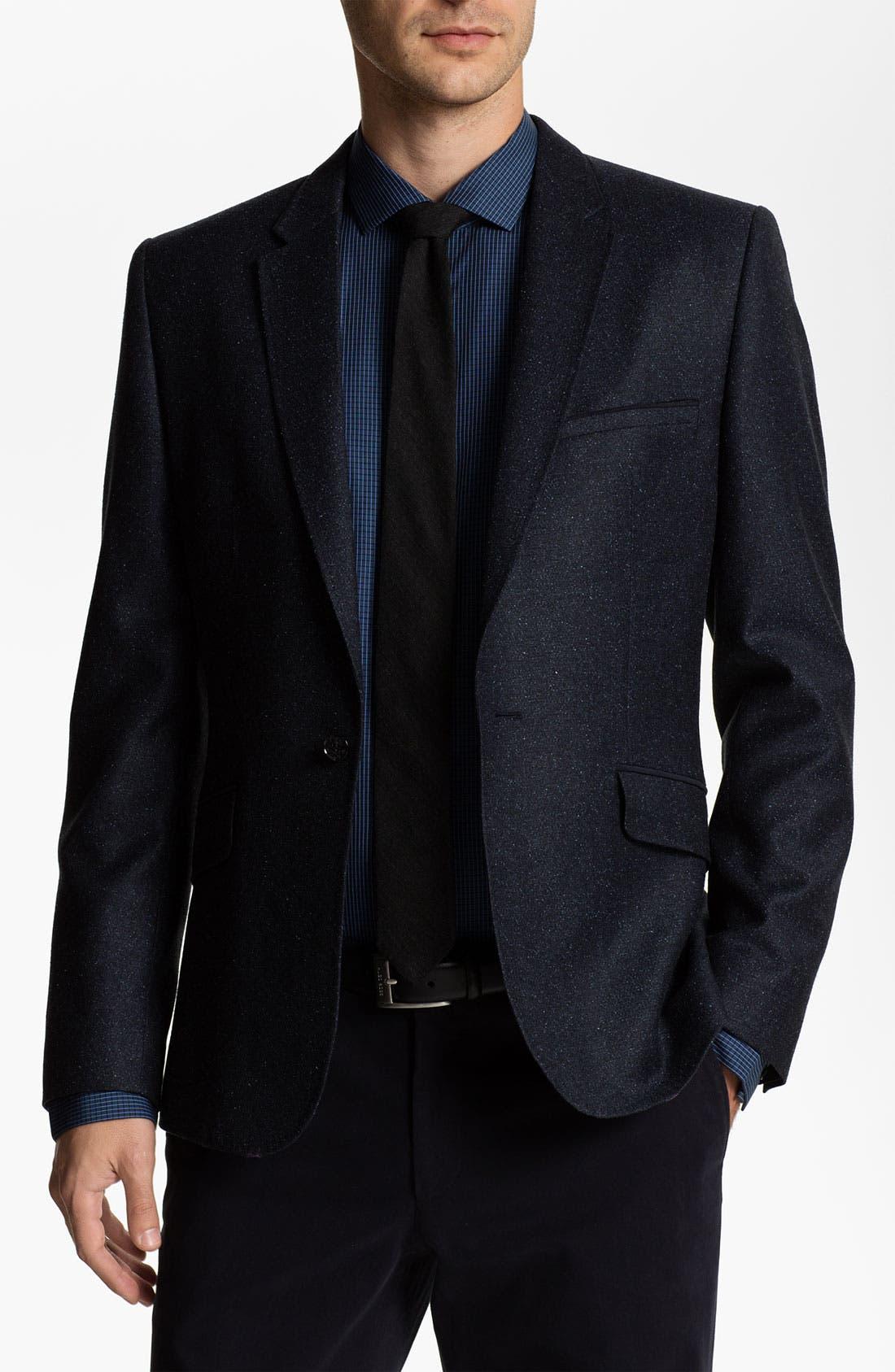 Main Image - Ted Baker London Trim Fit Donegal Tweed Blazer