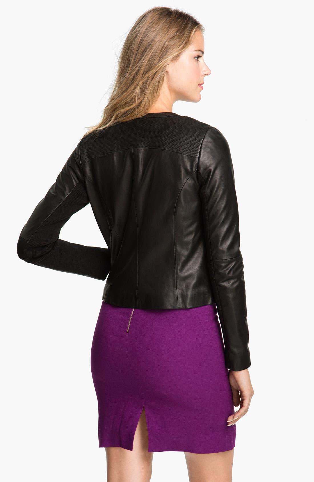 Alternate Image 3  - Badgley Mischka 'Ellie' Beaded Leather Jacket