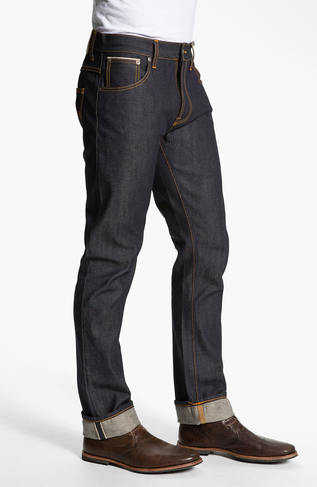 Alternate Image 3  - Nudie 'Hank Rey' Straight Leg Jeans (Dry Selvedge)