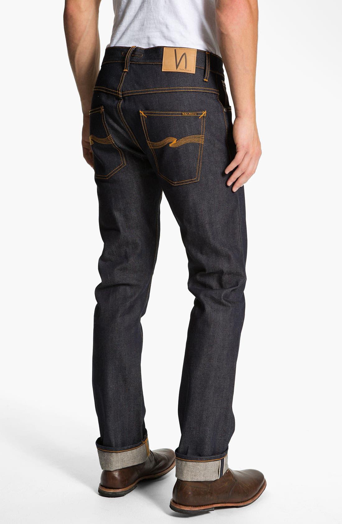 Alternate Image 1 Selected - Nudie 'Hank Rey' Straight Leg Jeans (Dry Selvedge)