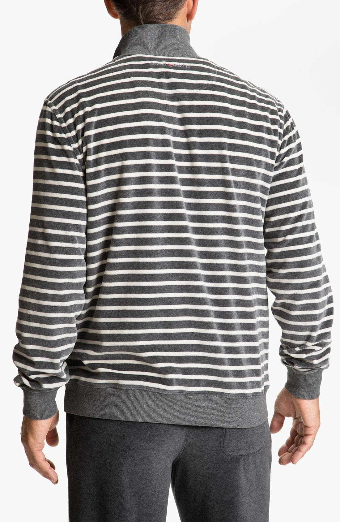 Alternate Image 2  - Daniel Buchler Yarn-Dyed Stripe Velour Track Jacket
