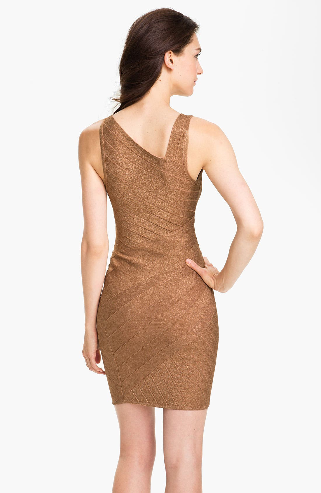 Alternate Image 2  - JS Collections Asymmetrical Metallic Bandage Dress