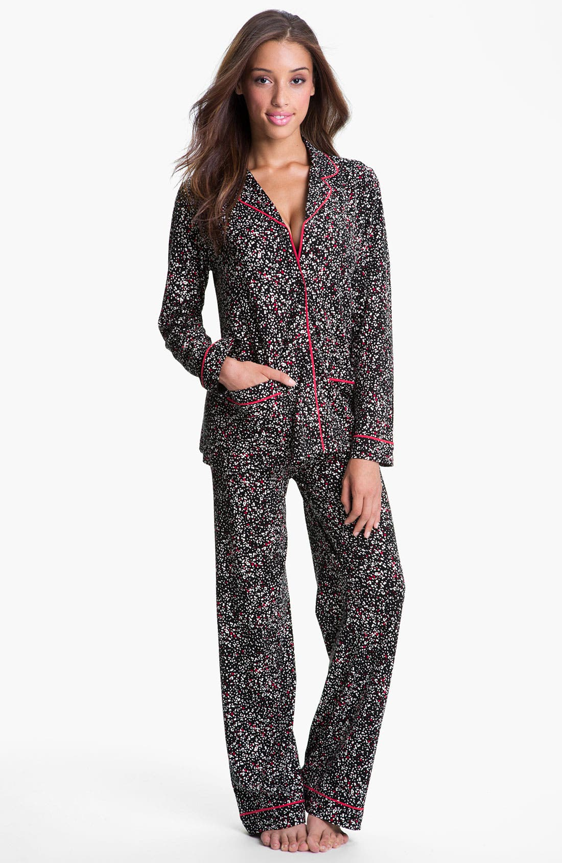 Main Image - DKNY Patterned Knit Pajamas