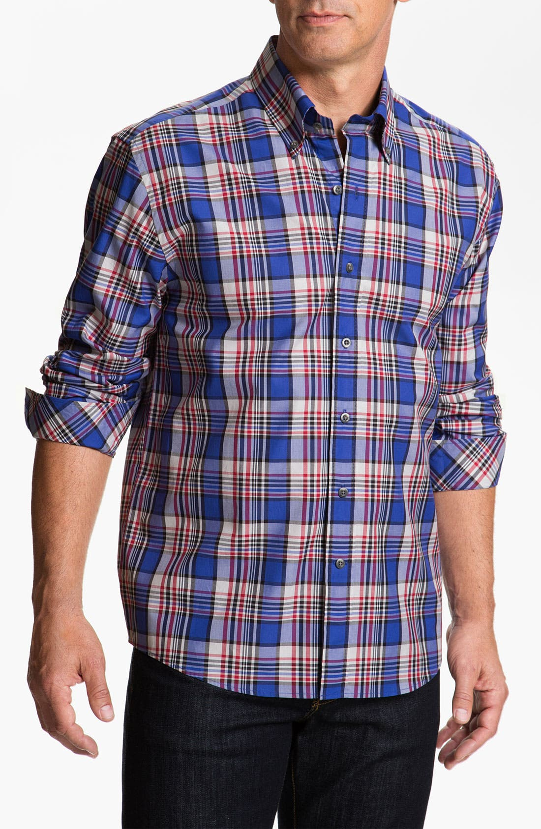Alternate Image 1 Selected - Cutter & Buck 'Whistler' Plaid Woven Shirt