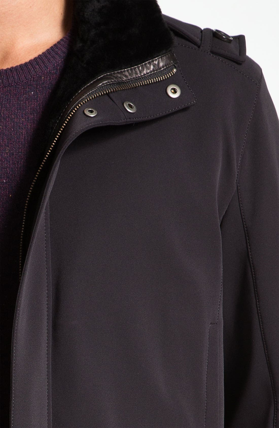 Alternate Image 3  - Cole Haan Water Resistant Jacket With Genuine Shearling Lining
