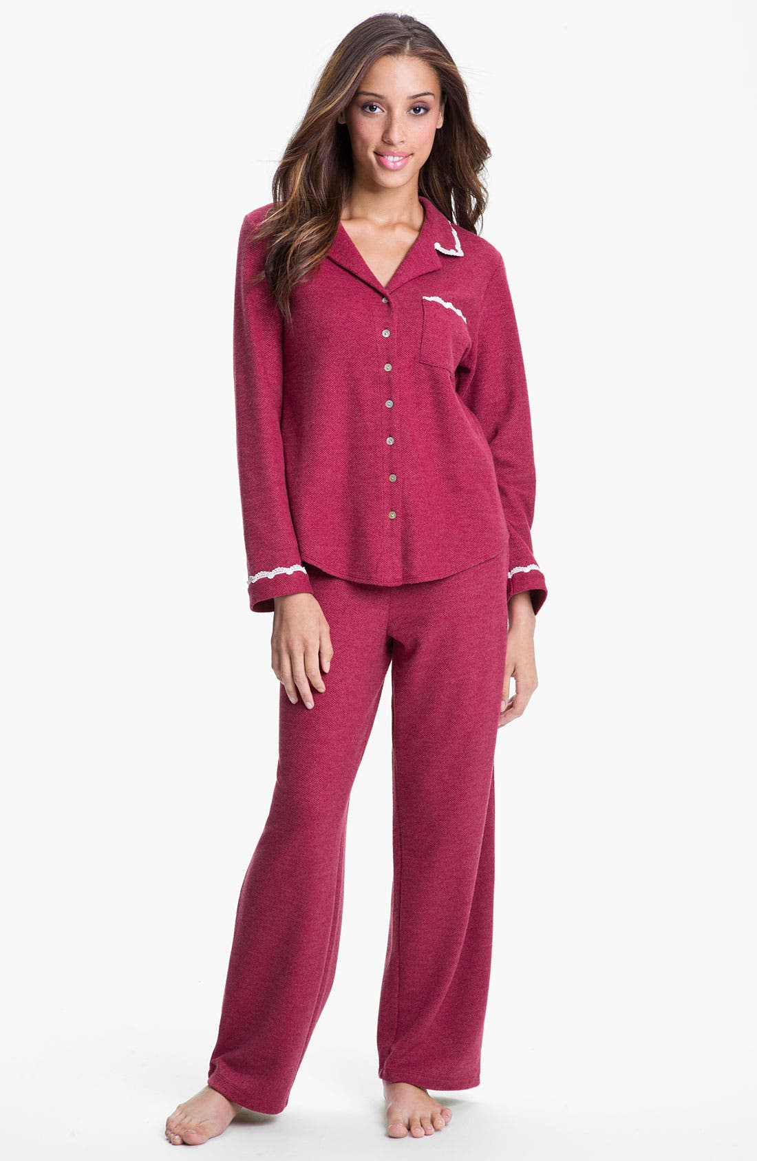 Alternate Image 1 Selected - Eileen West 'Winter Star' Thermal Pajamas