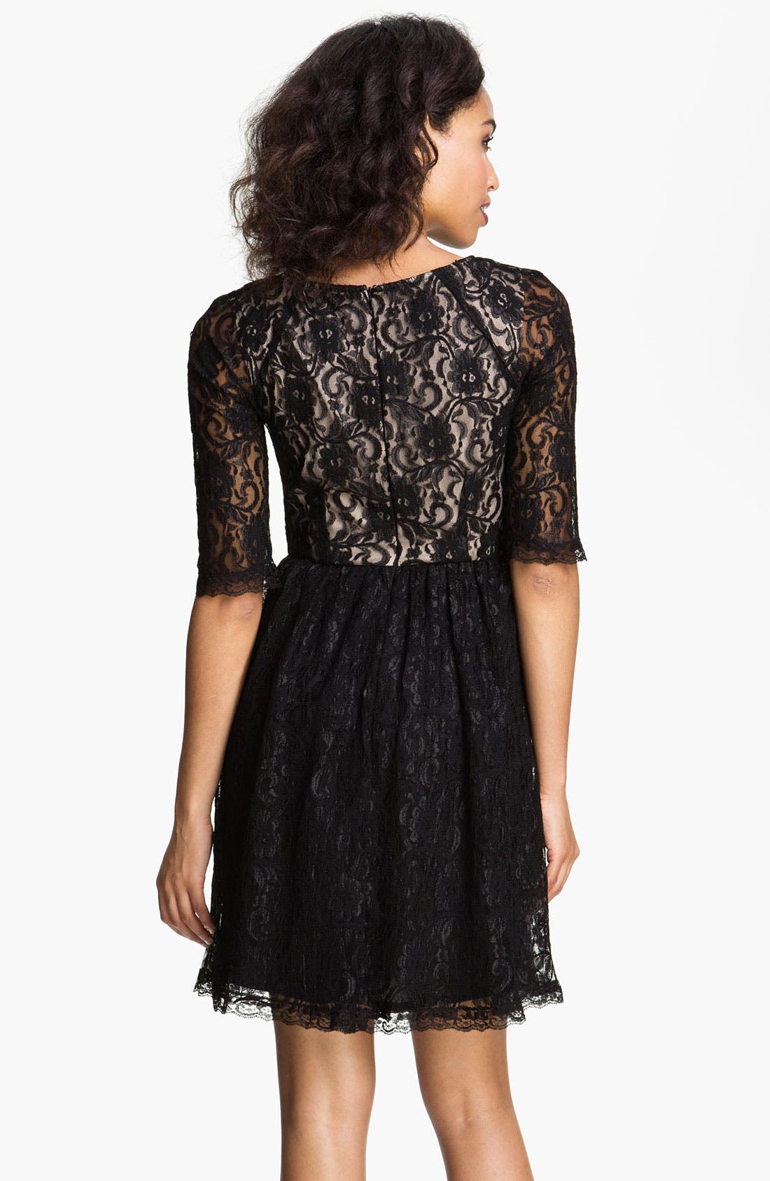 Alternate Image 2  - Maggy London Lace Fit & Flare Dress