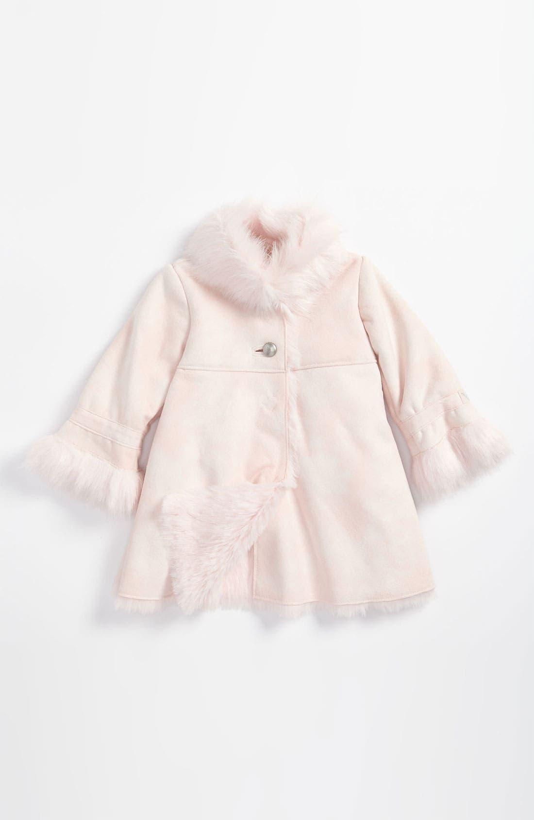 Main Image - Armani Junior Faux Fur Coat (Infant)