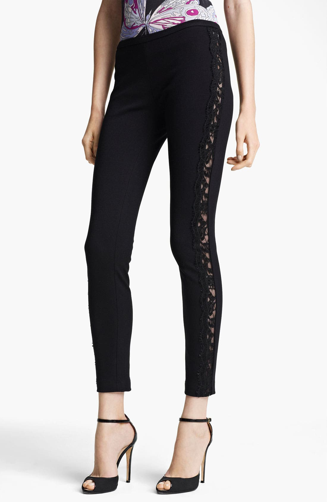 Alternate Image 1 Selected - Emilio Pucci Lace Stripe Pants