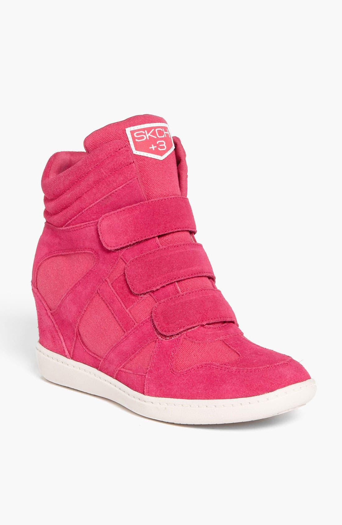 Alternate Image 1 Selected - SKECHERS 'Plus 3 Raise the Bar' Wedge Sneaker (Women)