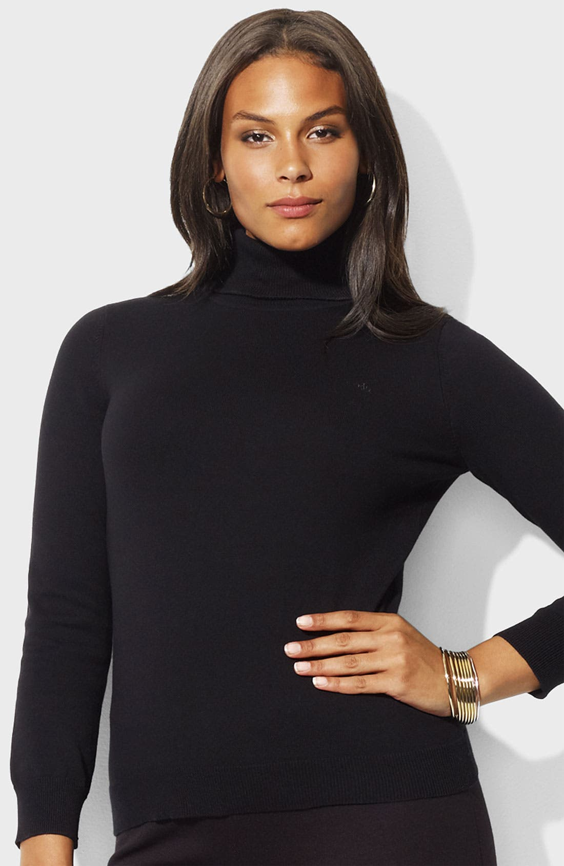 Alternate Image 1 Selected - Lauren Ralph Lauren Turtleneck Sweater (Plus)