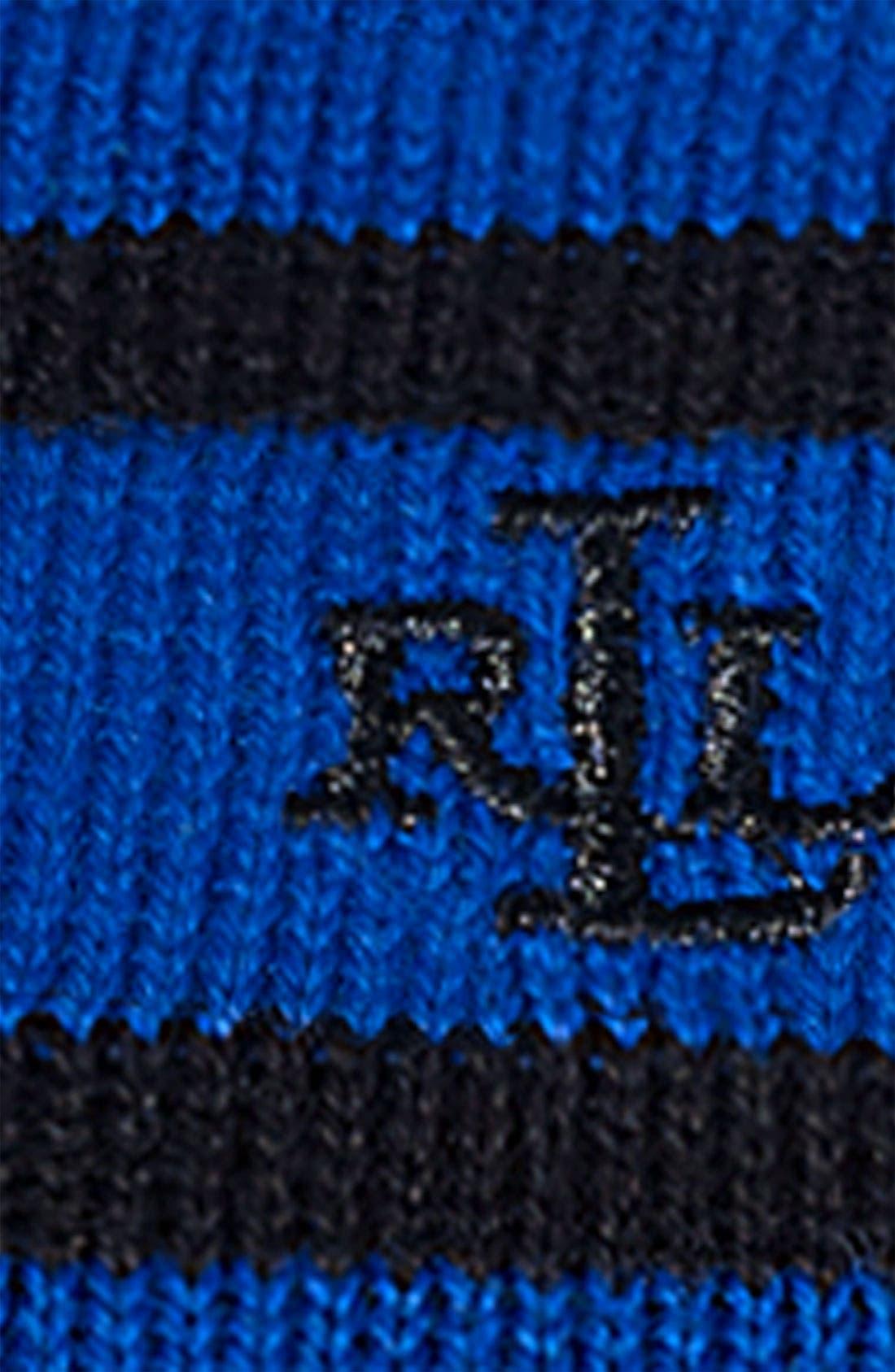 Alternate Image 3  - Lauren Ralph Lauren Stripe Turtleneck Sweater (Plus)