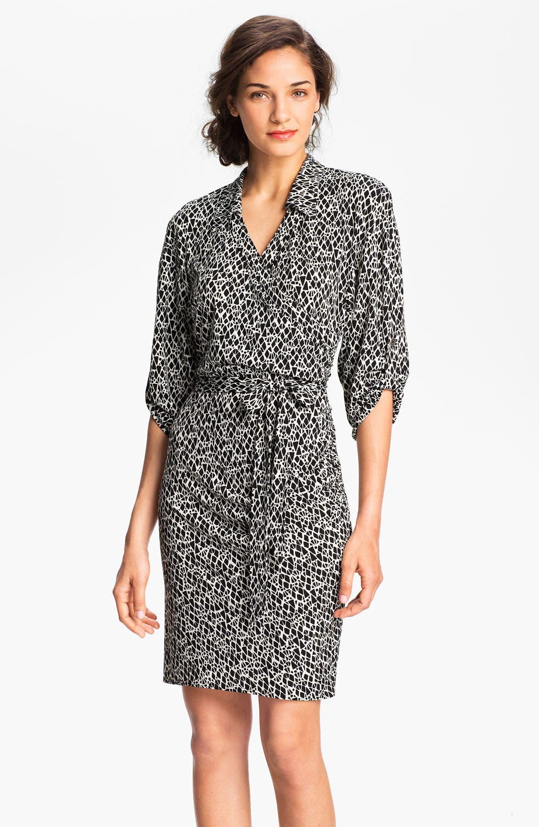Main Image - Laundry by Shelli Segal Print Jersey Shirtdress