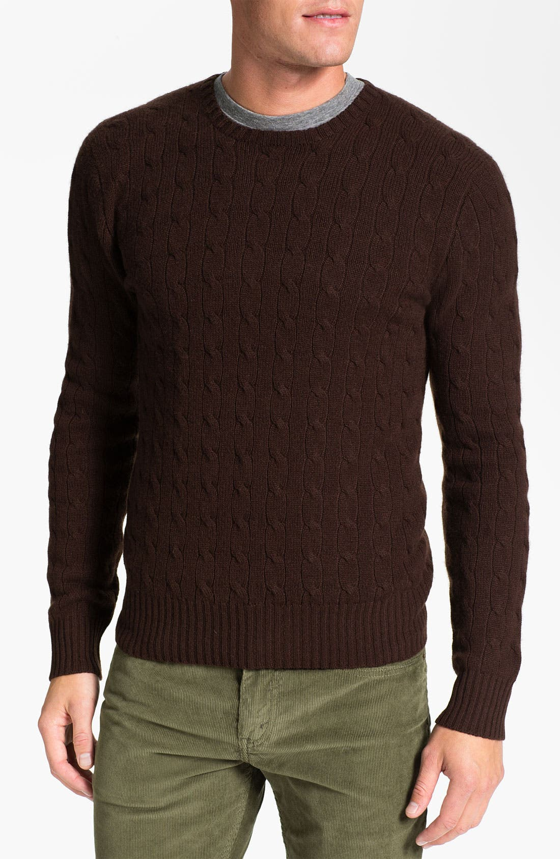 Alternate Image 1 Selected - Polo Ralph Lauren Classic Fit Cable Knit Cashmere Sweater