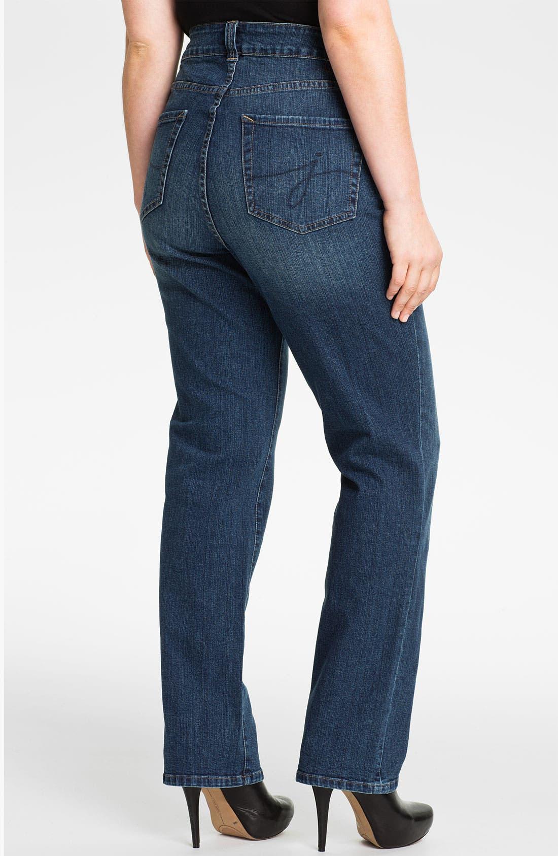 Alternate Image 2  - Jag Jeans 'Madison' Straight Leg Jeans (Plus Size)