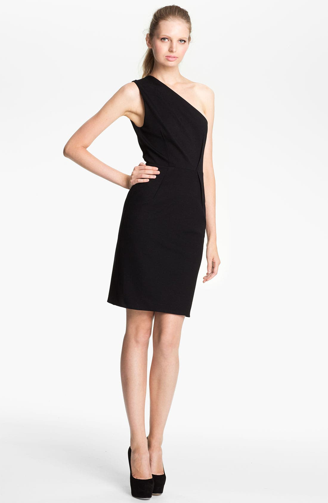 Alternate Image 1 Selected - camilla and marc 'Genevieve' One Shoulder Ponte Dress