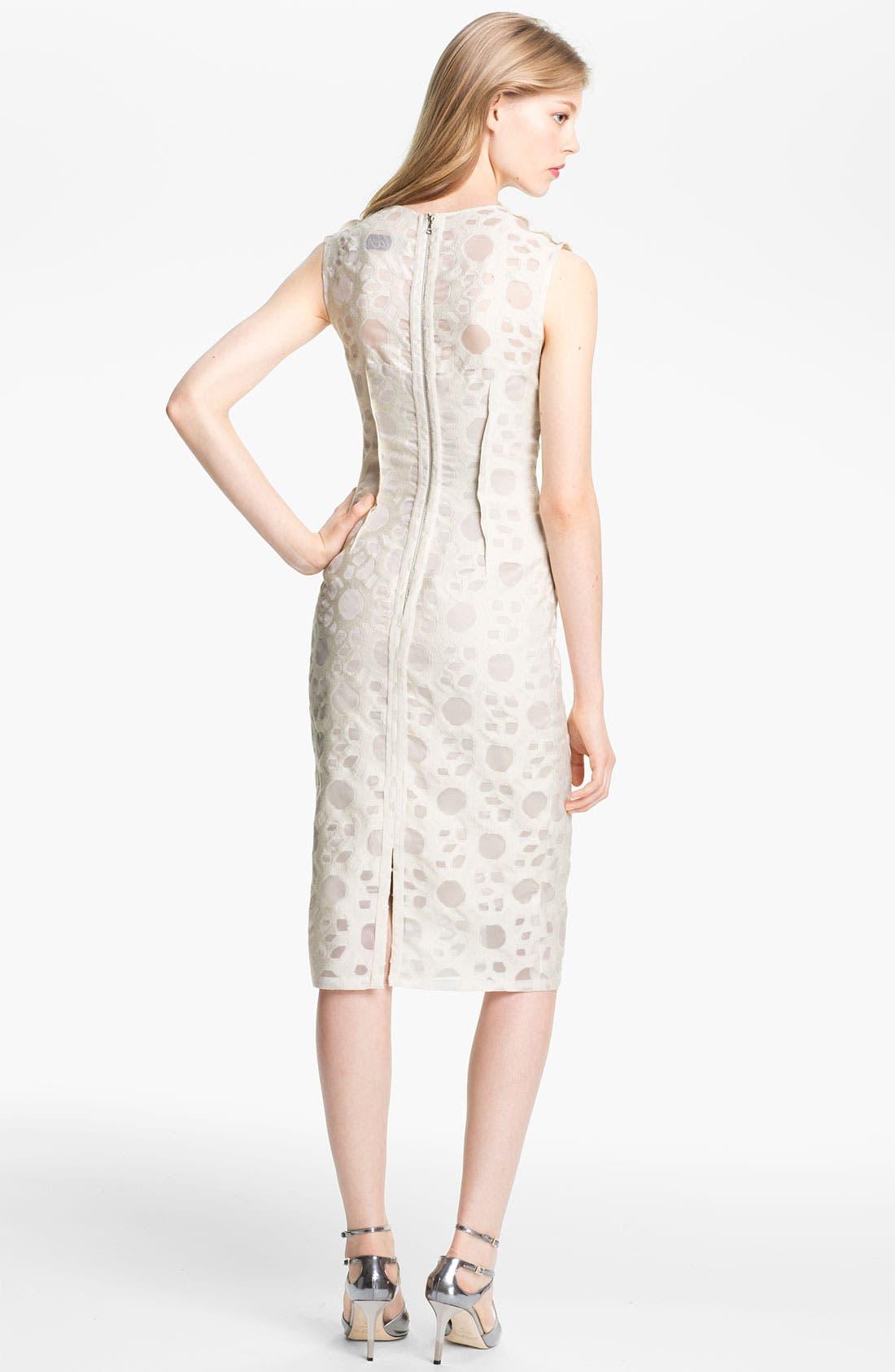 Alternate Image 2  - Lela Rose Pintucked Waist Sheath Dress