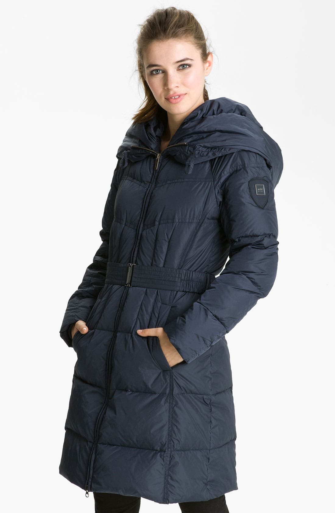 Main Image - Add Down 'Icon' Hooded Down Coat