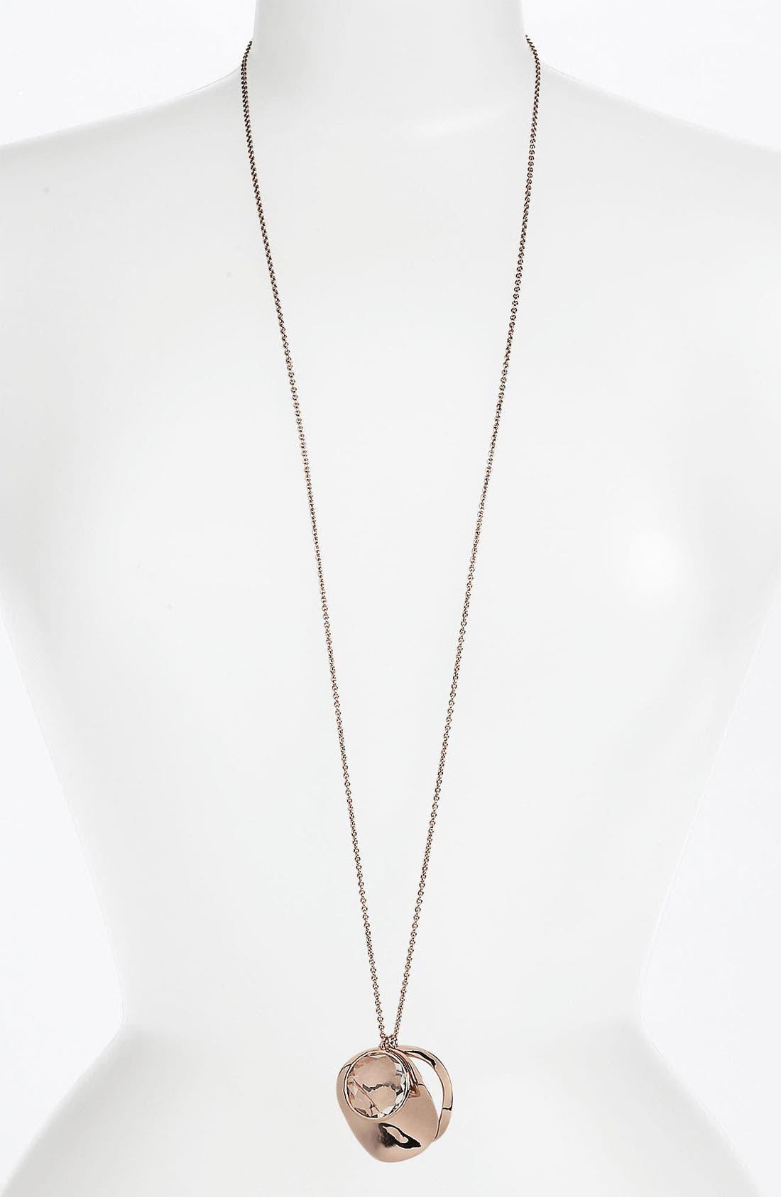 Alternate Image 1 Selected - Ippolita 'Lite Links' Long Triple Charm Rosé Necklace