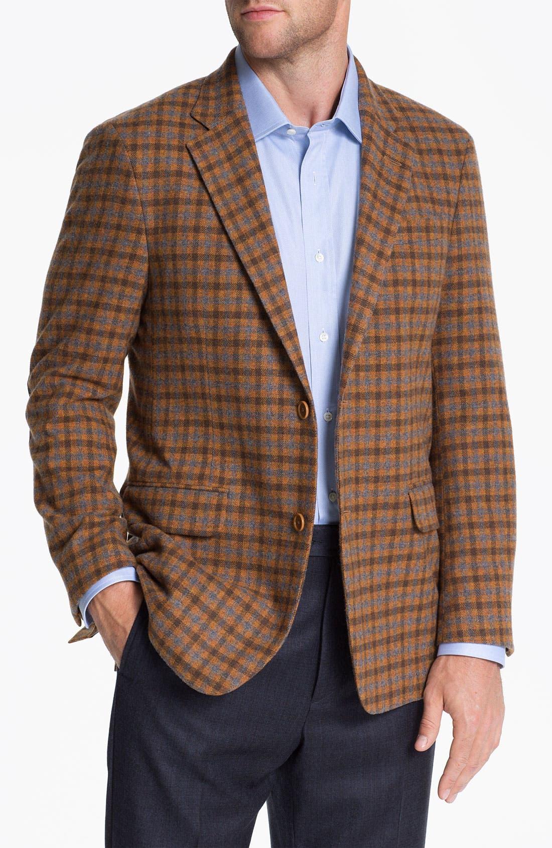 Alternate Image 1 Selected - Robert Talbott Check Wool Sportcoat