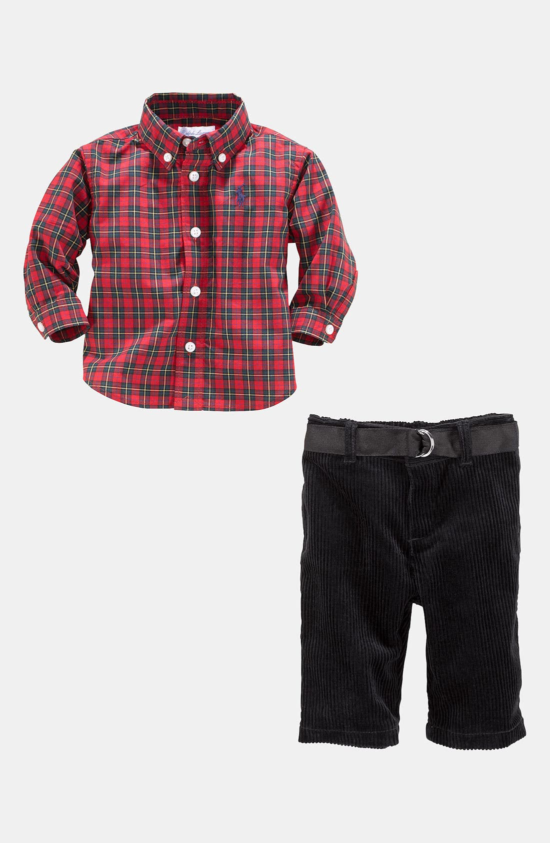 Alternate Image 2  - Ralph Lauren Shirt & Pants (Infant)