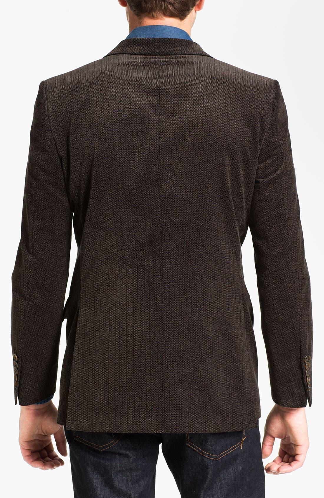 Alternate Image 2  - Joseph Abboud Herringbone Cotton Sportcoat