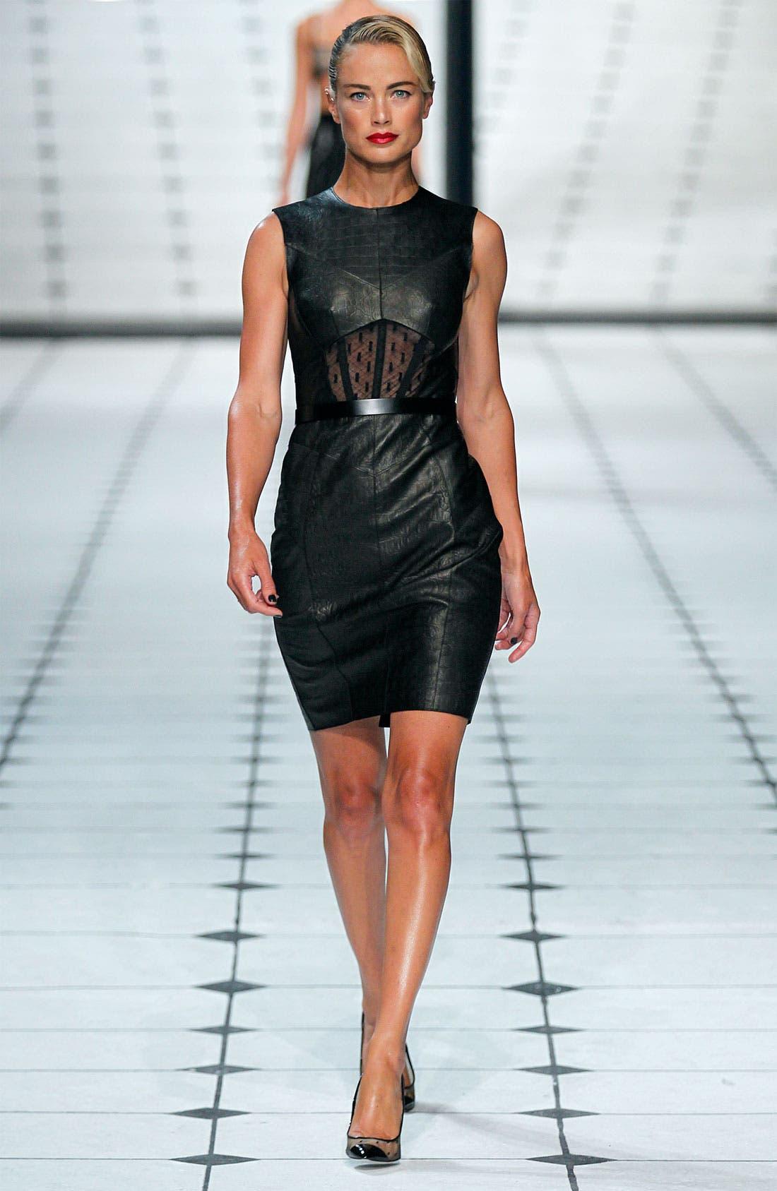 Alternate Image 3  - Jason Wu Embossed Leather Sheath Dress