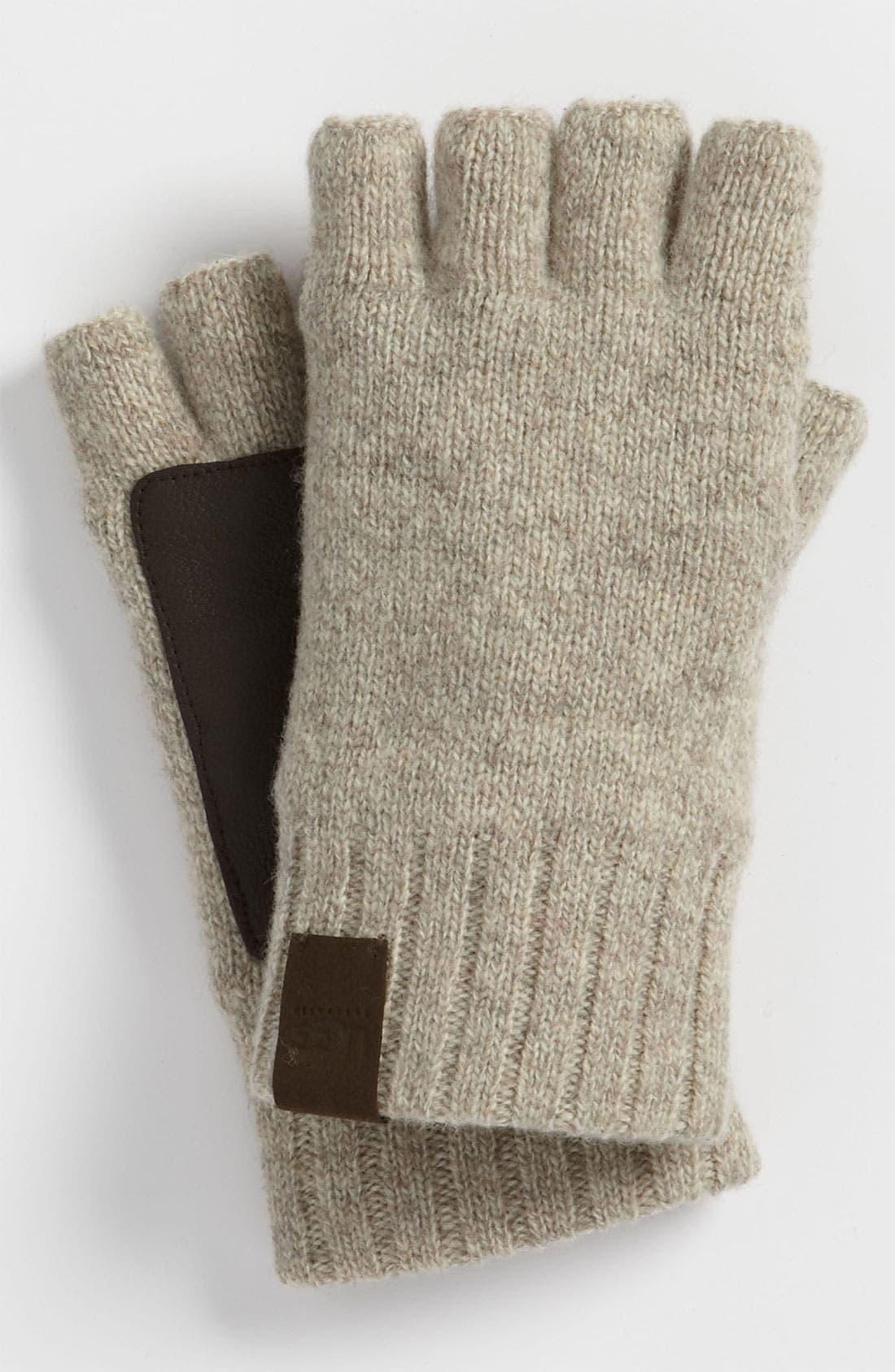 Alternate Image 1 Selected - UGG® Australia Lambswool Fingerless Gloves