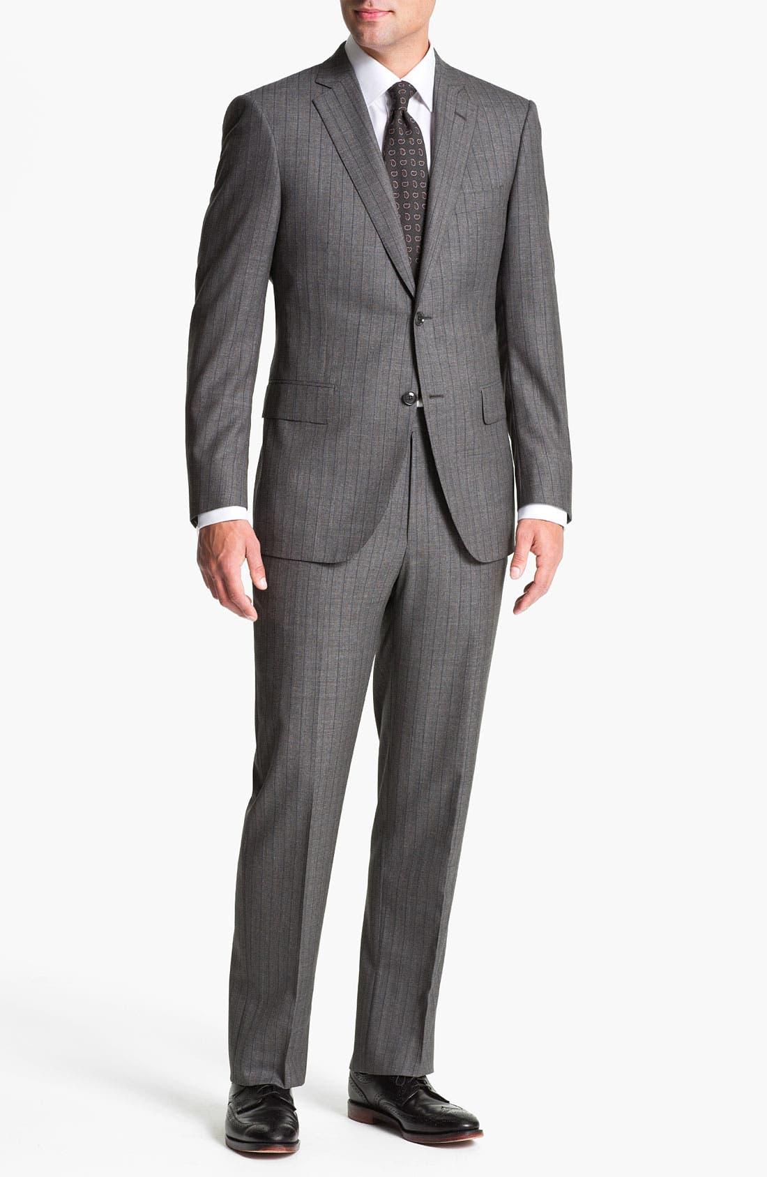 Alternate Image 2  - Pal Zileri Trim Fit Wool Suit