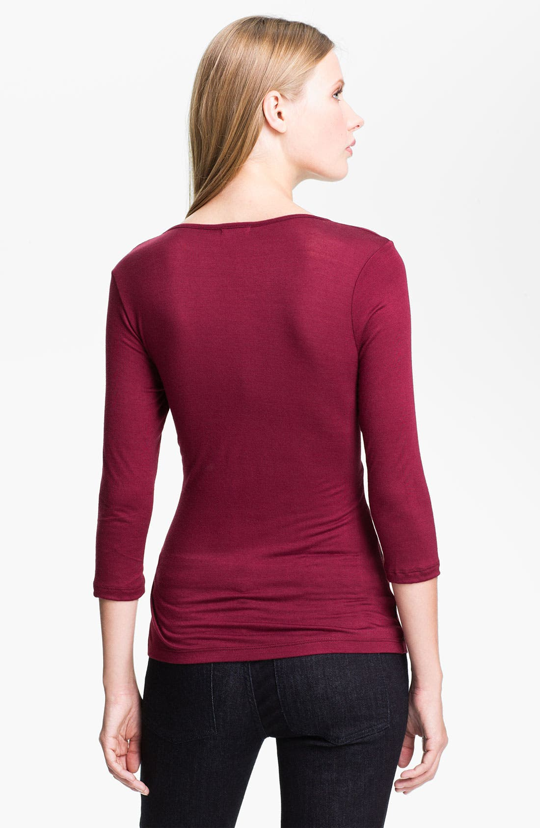 Alternate Image 2  - Edista 'Newcastle' Drape Neck Top (Petite)