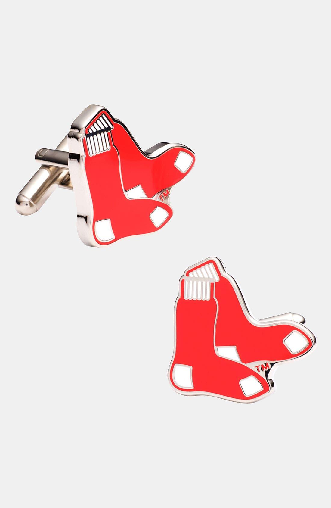 Main Image - Cufflinks, Inc. 'Boston Red Sox' Cuff Links